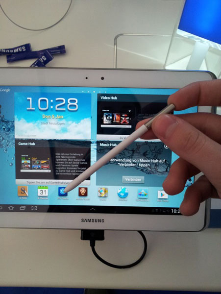Penna e tablet Galaxy Note 10.1