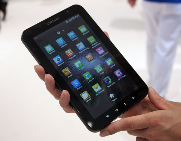 Samsung Galaxy Tab  interfaccia