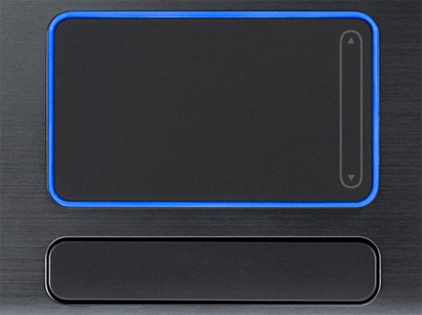 Particolare del touchpad