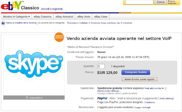 eBay vende Skype