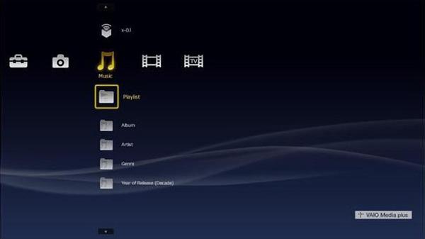 Interfaccia Sony XMB sul Vaio P