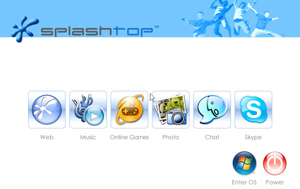 Splashtop greeter