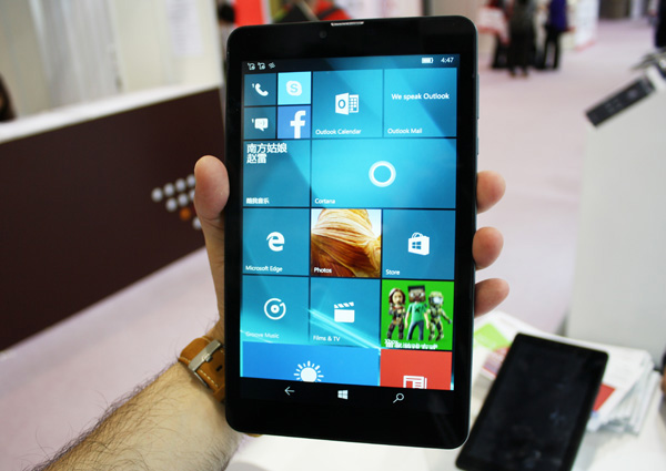 Sunty Q82 tablet Windows 10 Mobile con LTE