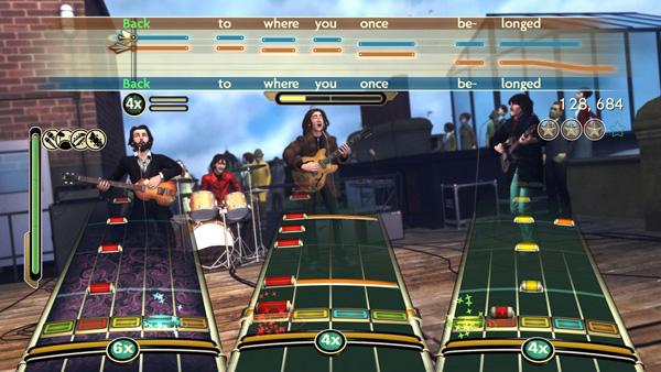 Screenshot del gioco The Beatles: Rock Band