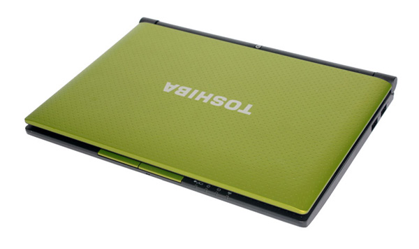 Toshiba NB550D, metallic lime green