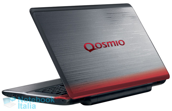 Toshiba Qosmio X770, cover con colorazione Metallic Urban Red