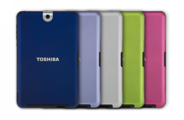 Cover colorate intercambiabili del tablet Toshiba