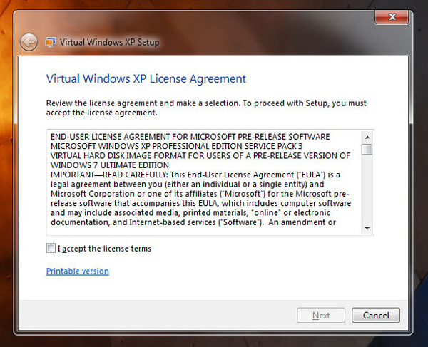 Virtual Windows XP Mode