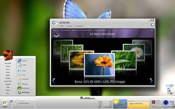 Screenshot Windows 7. Windows 7 screenshot e