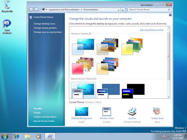 Windows 7 beta 1 in prova notebook italia - Gestione finestre desktop ...