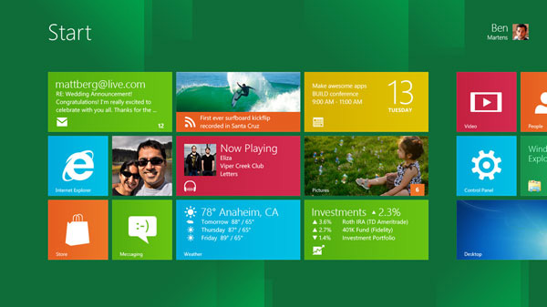 Windows 8 live tile