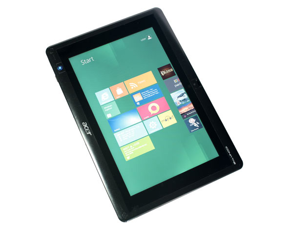 Windows 8 in portrait mode sul tablet Acer Iconia Tab