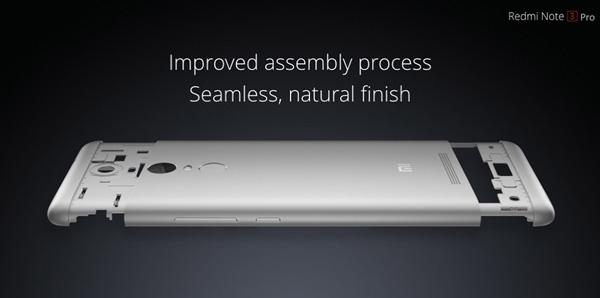 Lo speciale design dello Xiaomi Redmi Note 3 Pro