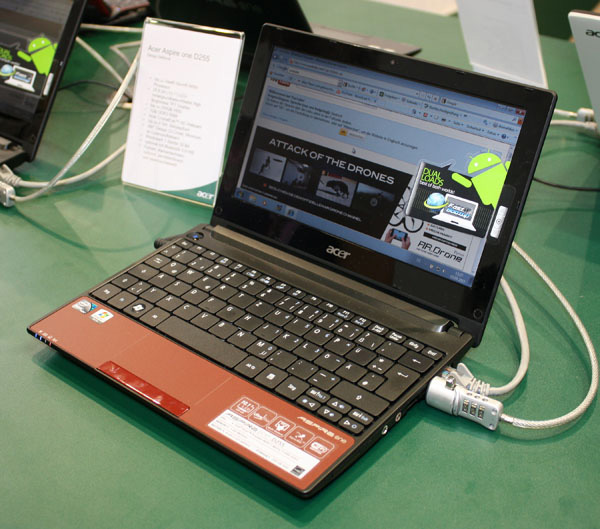 Acer Aspire One D255 rosso