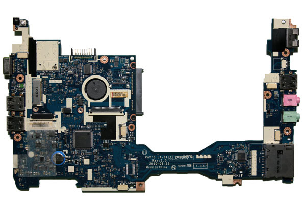 Motherboard del netbook Acer Aspire One D255, lato A