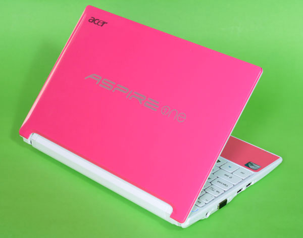 Cover rosa del netbook Acer Aspire One D255 Happy