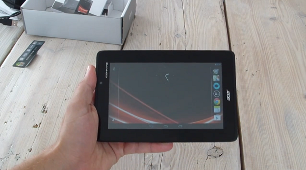 Acer Iconia Tab A110 unboxing