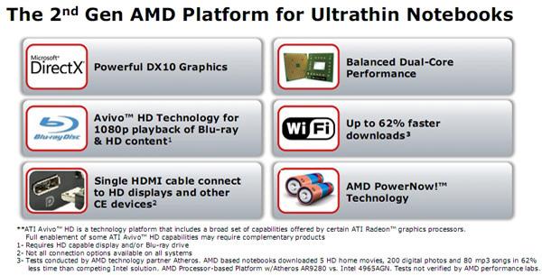 Features piattaforma AMD Congo