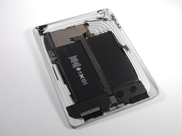 Disassemblaggio Apple iPad: batterie