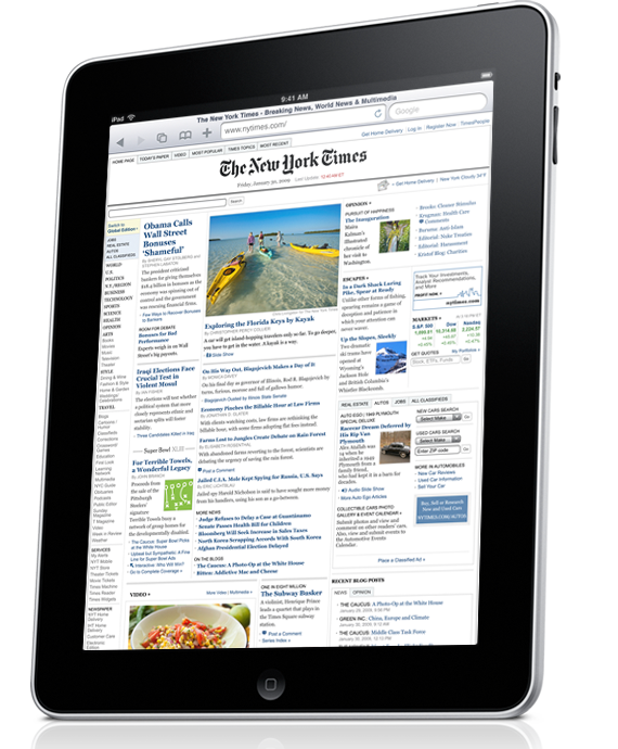 Apple iPad giornale