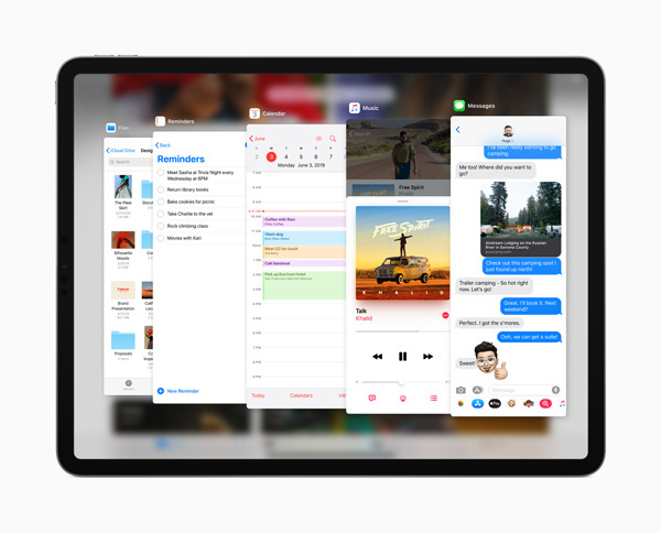 Apple iPadOS slide over