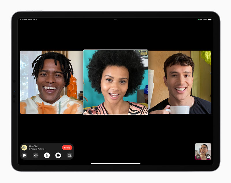 Apple iPadOS 15 FaceTime