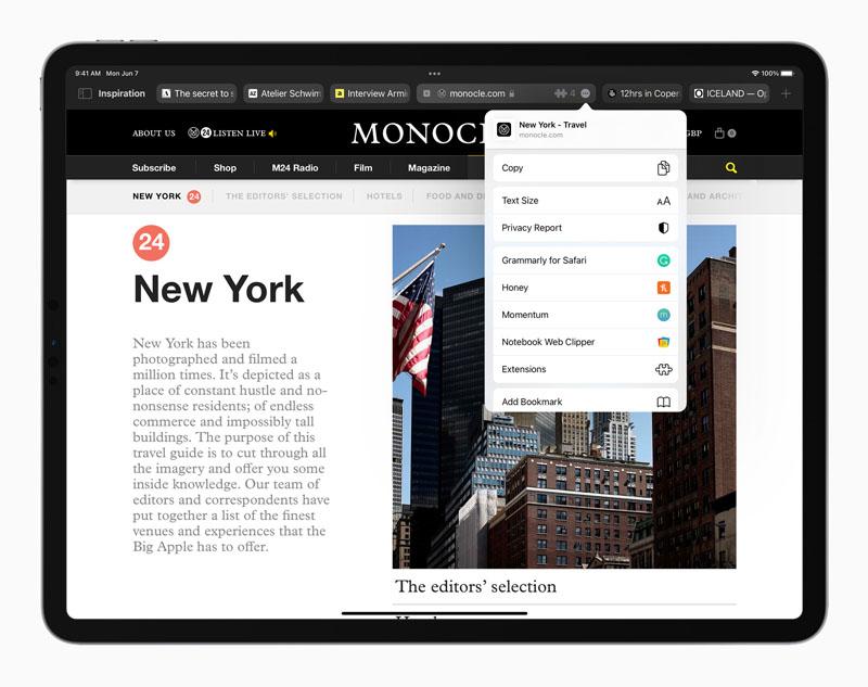 Apple iPadOS 15 Safari