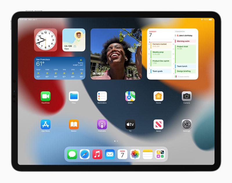 Widget Apple iPadOS 15