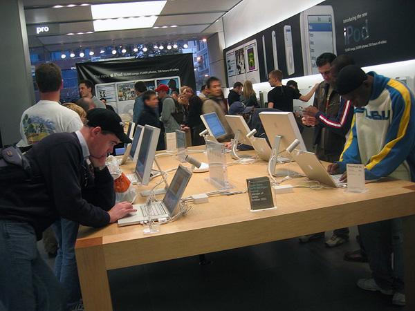 Interno di un Apple Store