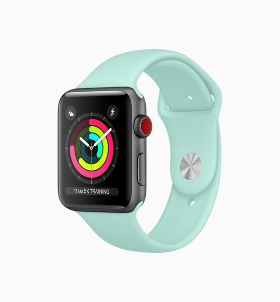 Apple Watch celeste
