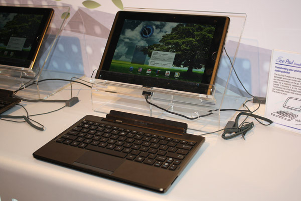 Asus Eee Pad Transformer con Android 3.0