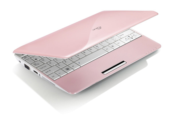 Asus Eee PC 1005HA rosa aperto