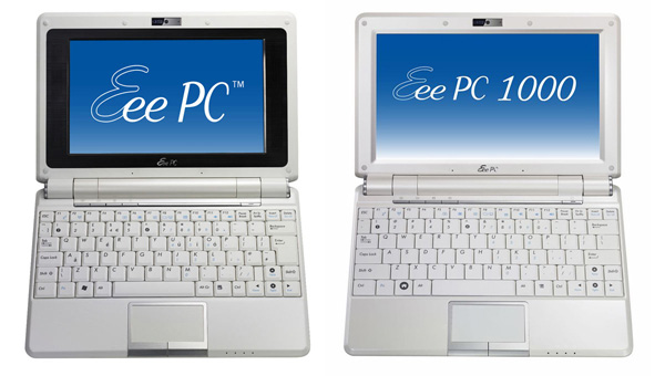 AsusEee PC 904 a confronto con Eee PC 1000