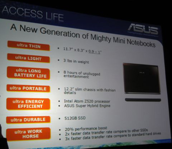 Asus S121 specifiche tecniche