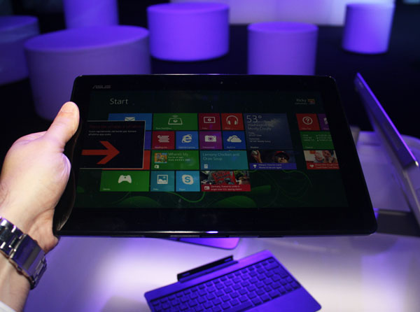 ASUS Transformer Book T100, componente tablet