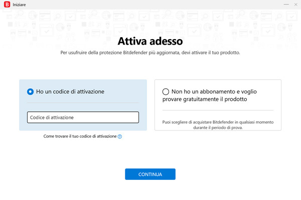 Bitdefender Internet Security 2019 attivazione
