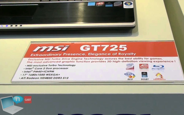 MSI GT725