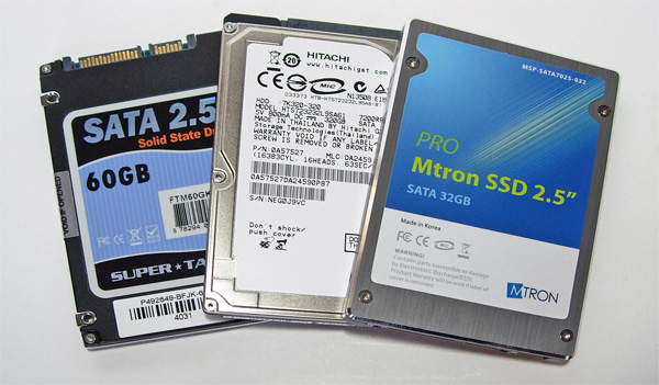 Prova drive SSD Mtron e Super Talent