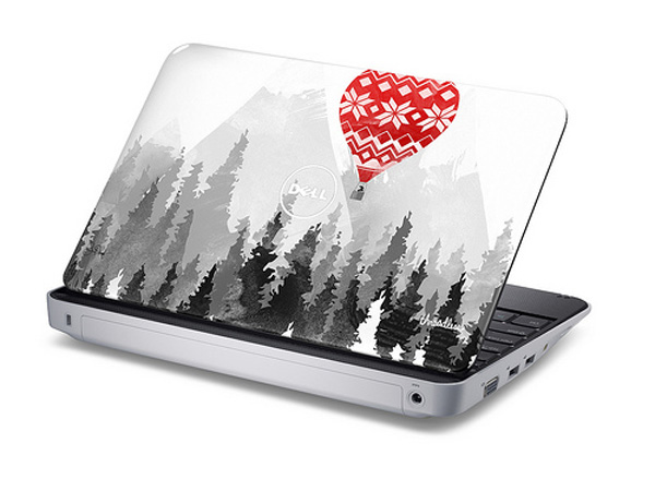 Dell Inspiron Mini con decoro Threadless