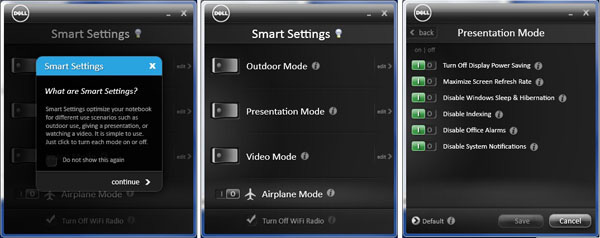 Dell Smart Settings