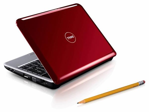 Netbook Dell dorso