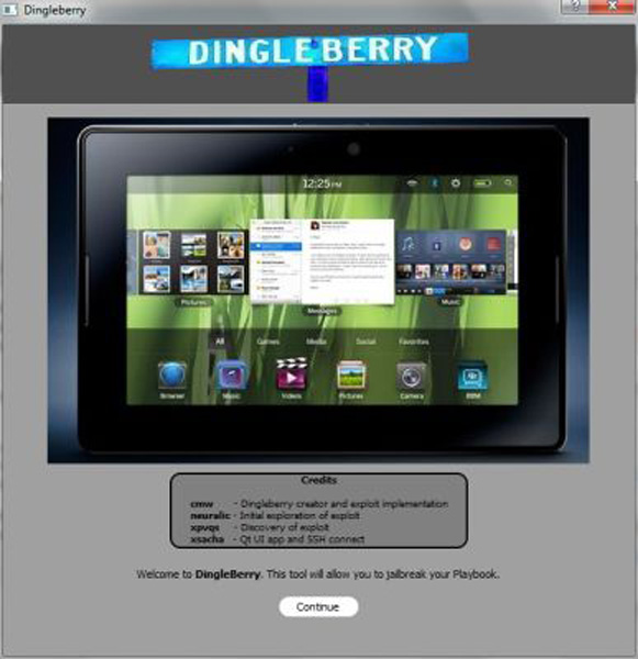Interfaccia di Dingleberry
