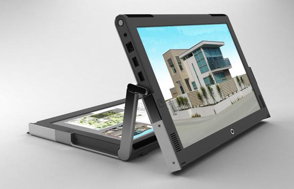 Lo schermo ruota di 360 gradi
