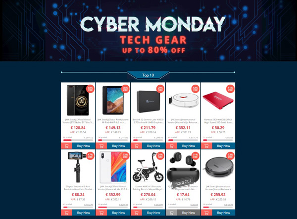 Il Cyber Monday continua su Geekbuying