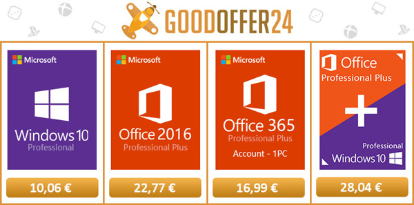 licenze per Windows 10 e Office a partire da soli 10€