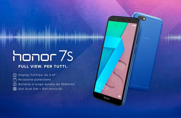 Honor 7s In Vendita In Italia A 119 Ha Display Fullview
