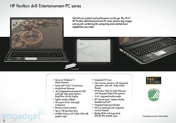 HP Pavilion dv8 con Core i7