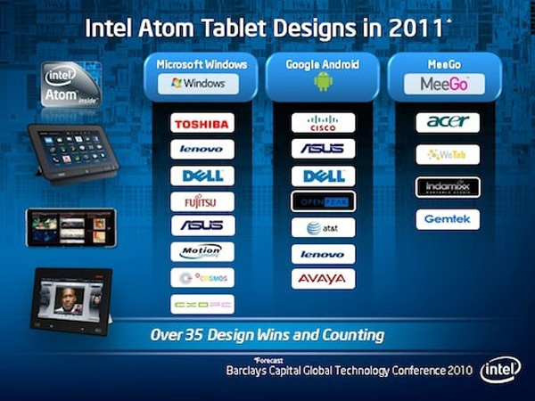 Intel Atom tablet design