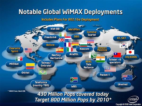 Mappa WiMAX mondo