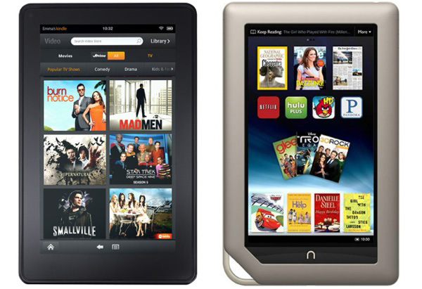 Kindle Fire e Nook Tablet